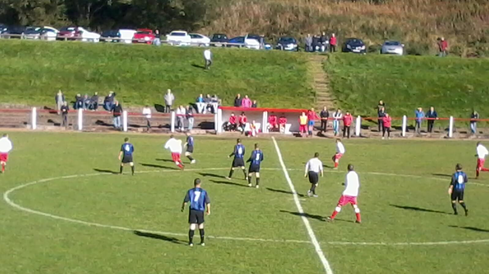 Lesmahagow v Larkhall Thistle Gow on the attack