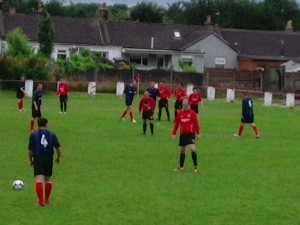 Larkhall Thistle v Greenock - Hugh Kelly free kick