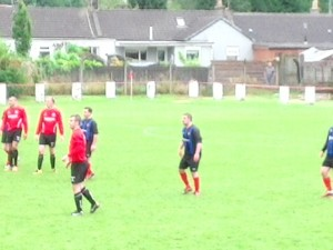 Larkhall Thistle v Greenock , Second half action