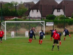 Larkhall Thistle v Greenock , Thistle defending Greenock attack