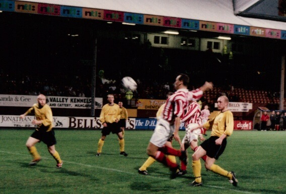 Sectional League Cup Final 2nd October 2001 Larkhall Thistle v Bellshill Athletic 9