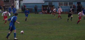 Dunipace break in the second half against Larkhall Thistle