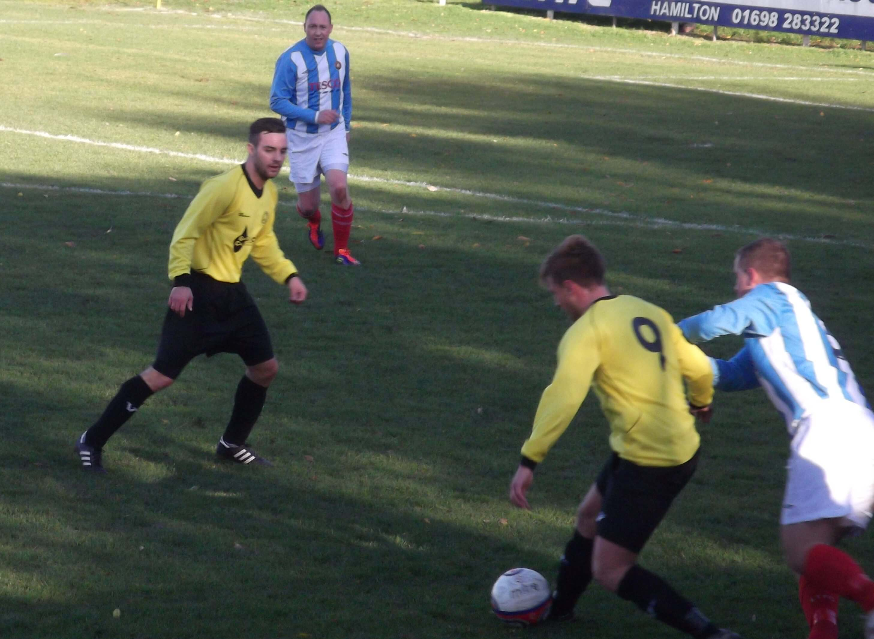 Mark Weir and Dean Richardson defend Bellshill attack