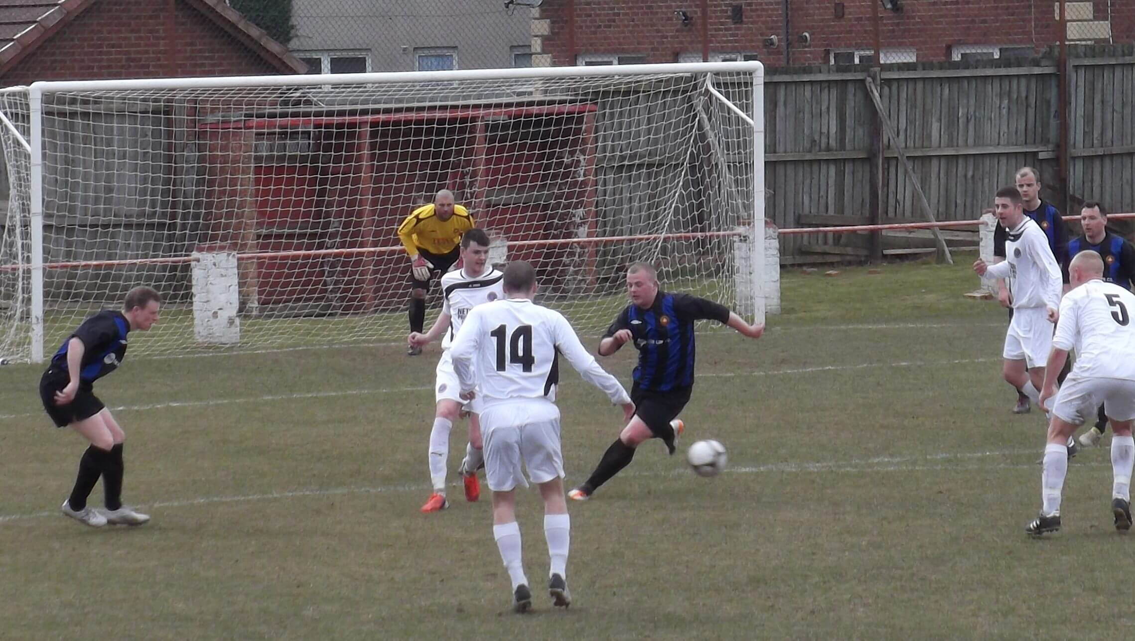 Steven McInall challenge in the second half