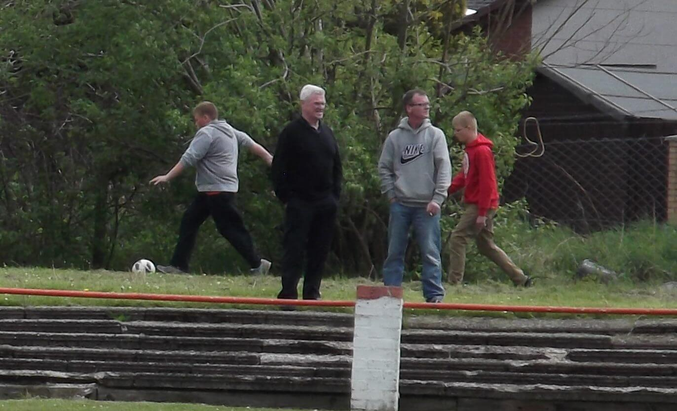 Thistle legend Martin Mulhearn takes in the game
