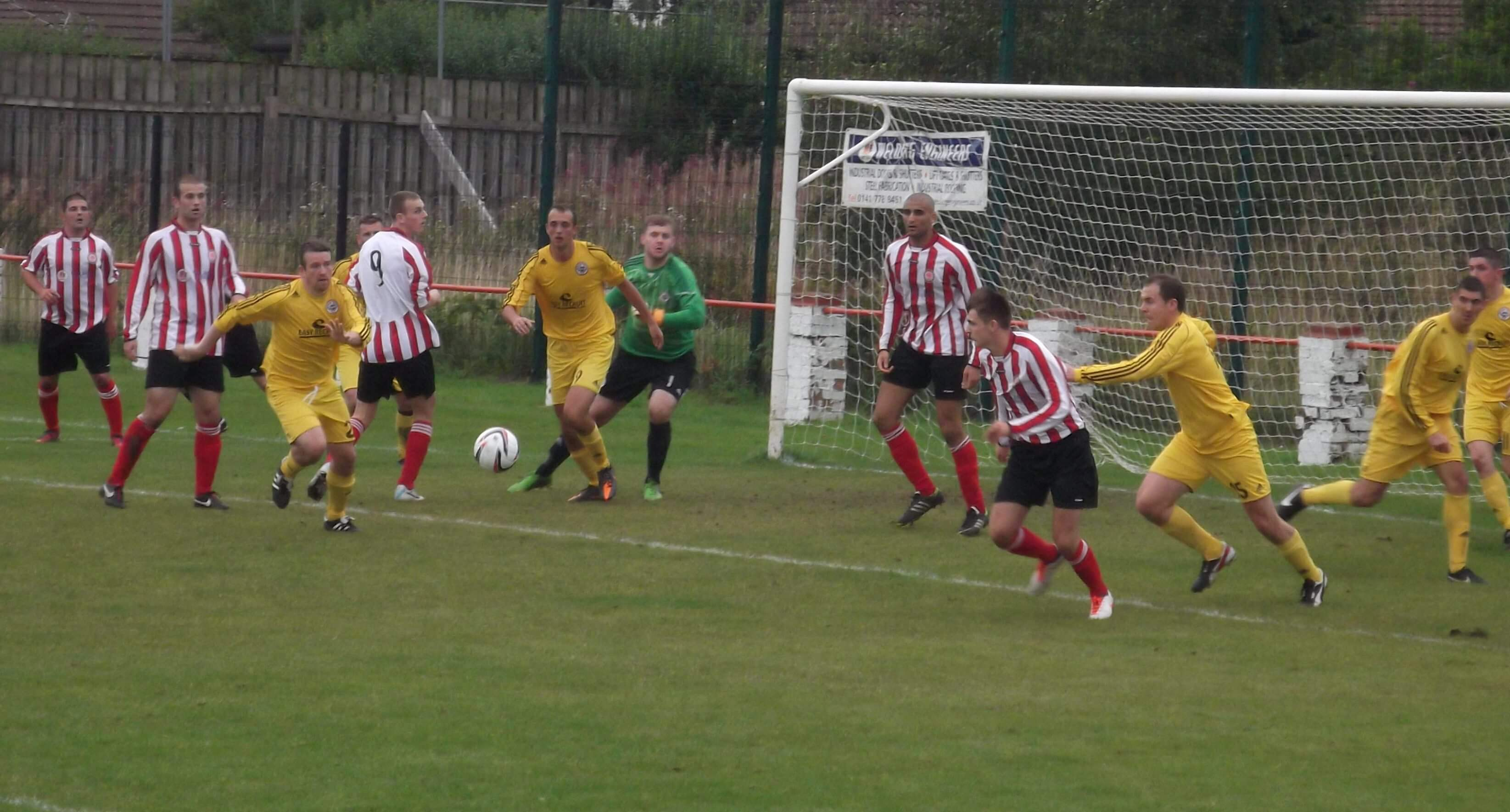 Frantic second half scramble in the Maryhill goal