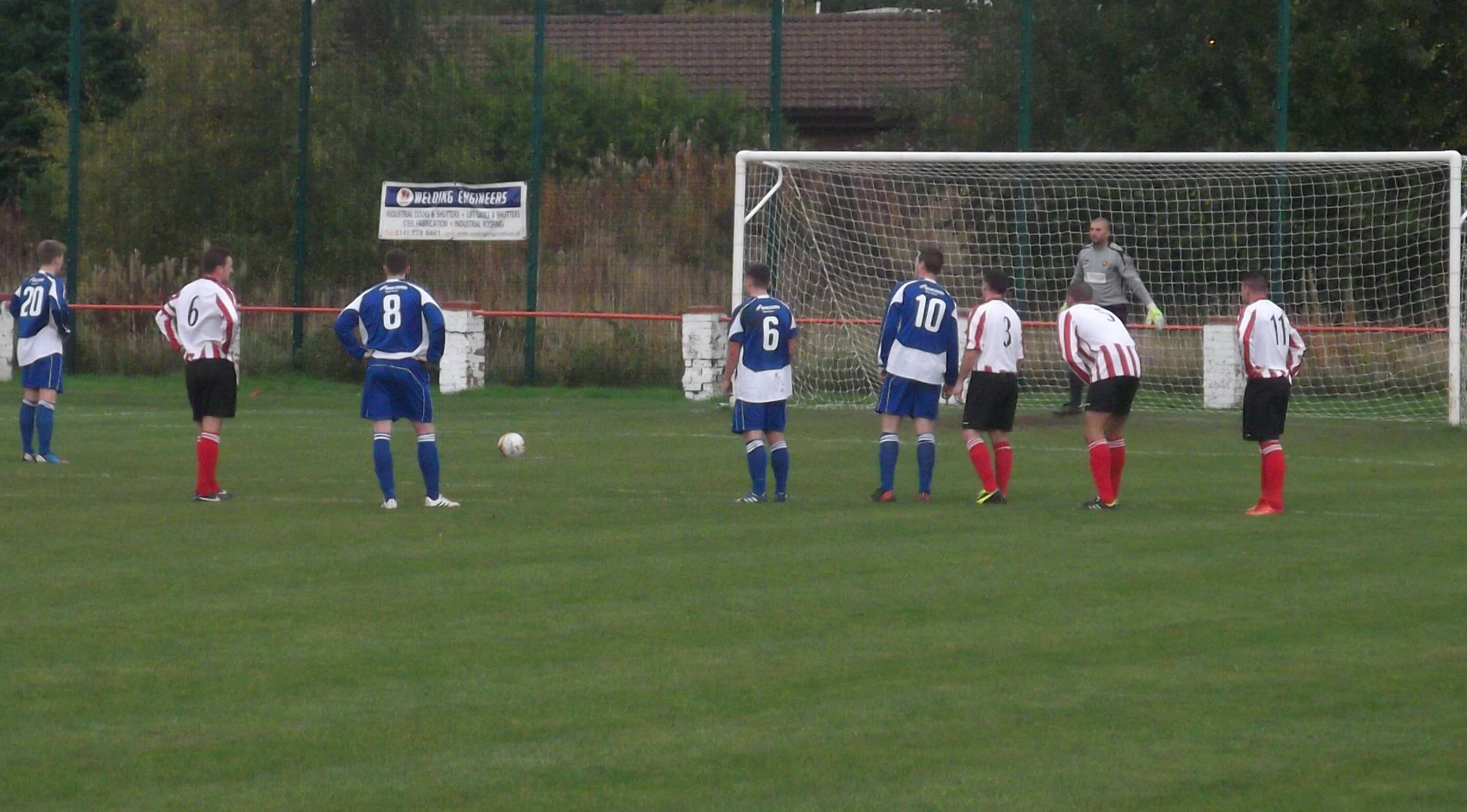 Kirriemuir penalty in first half