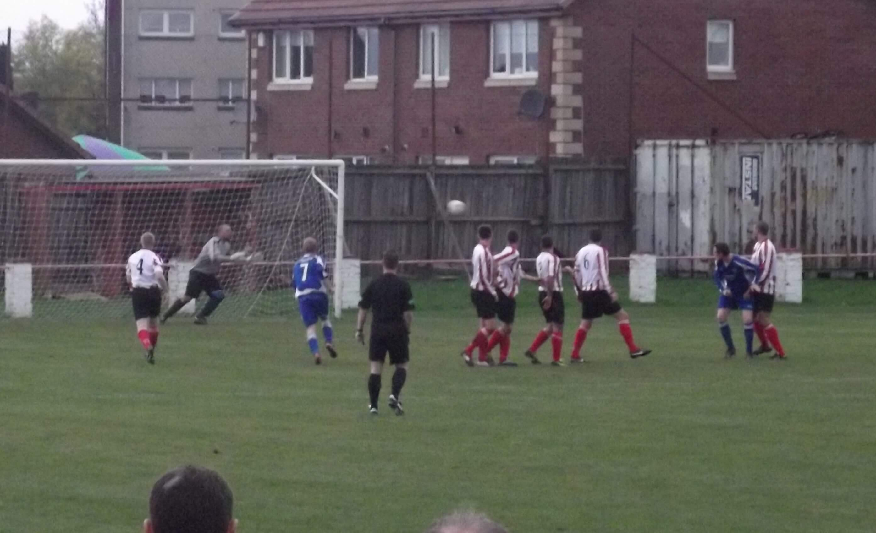 McEwan dives to save Kirriemuir free kick