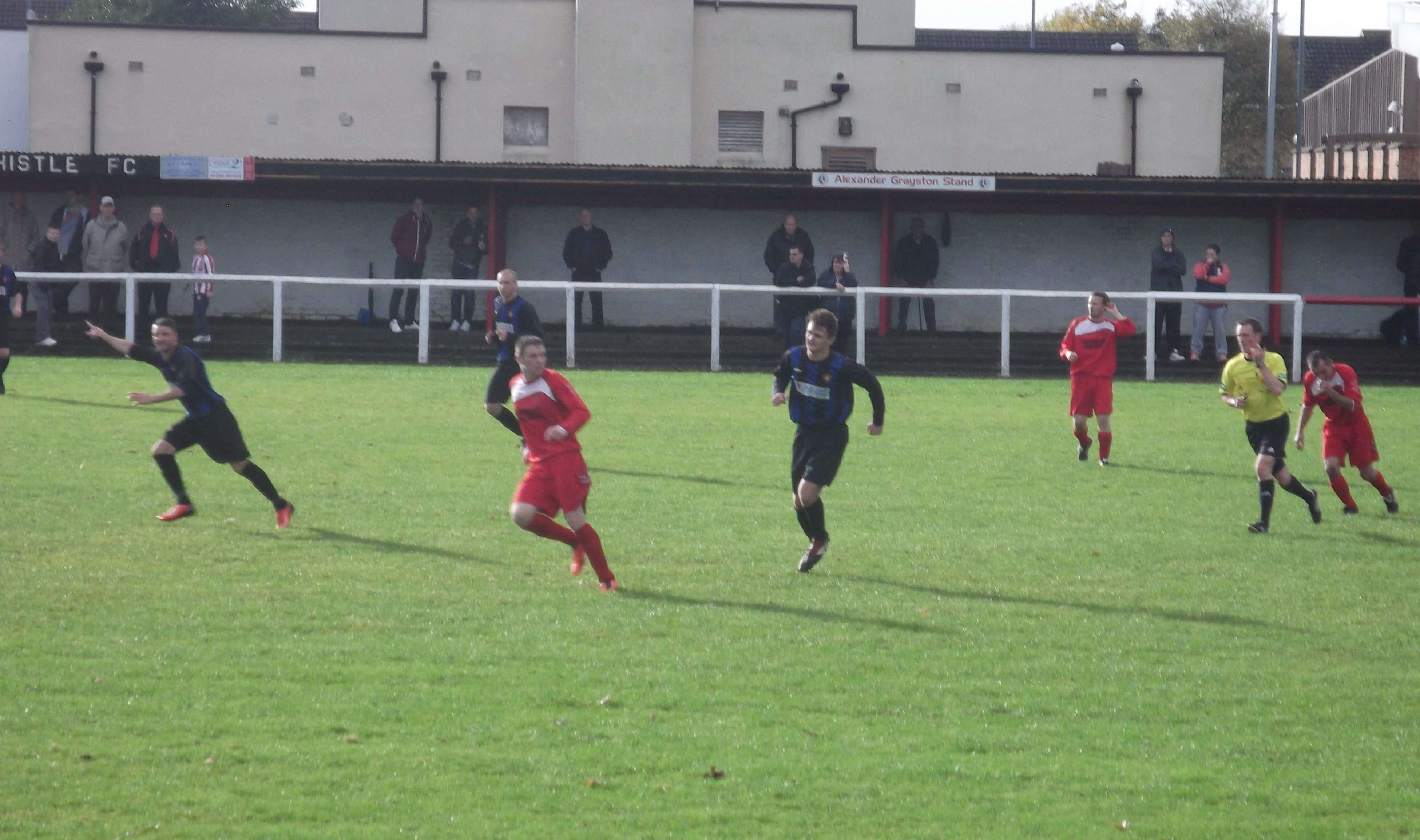 McLachlan and Marshall on the attack in the second half for Larkhall