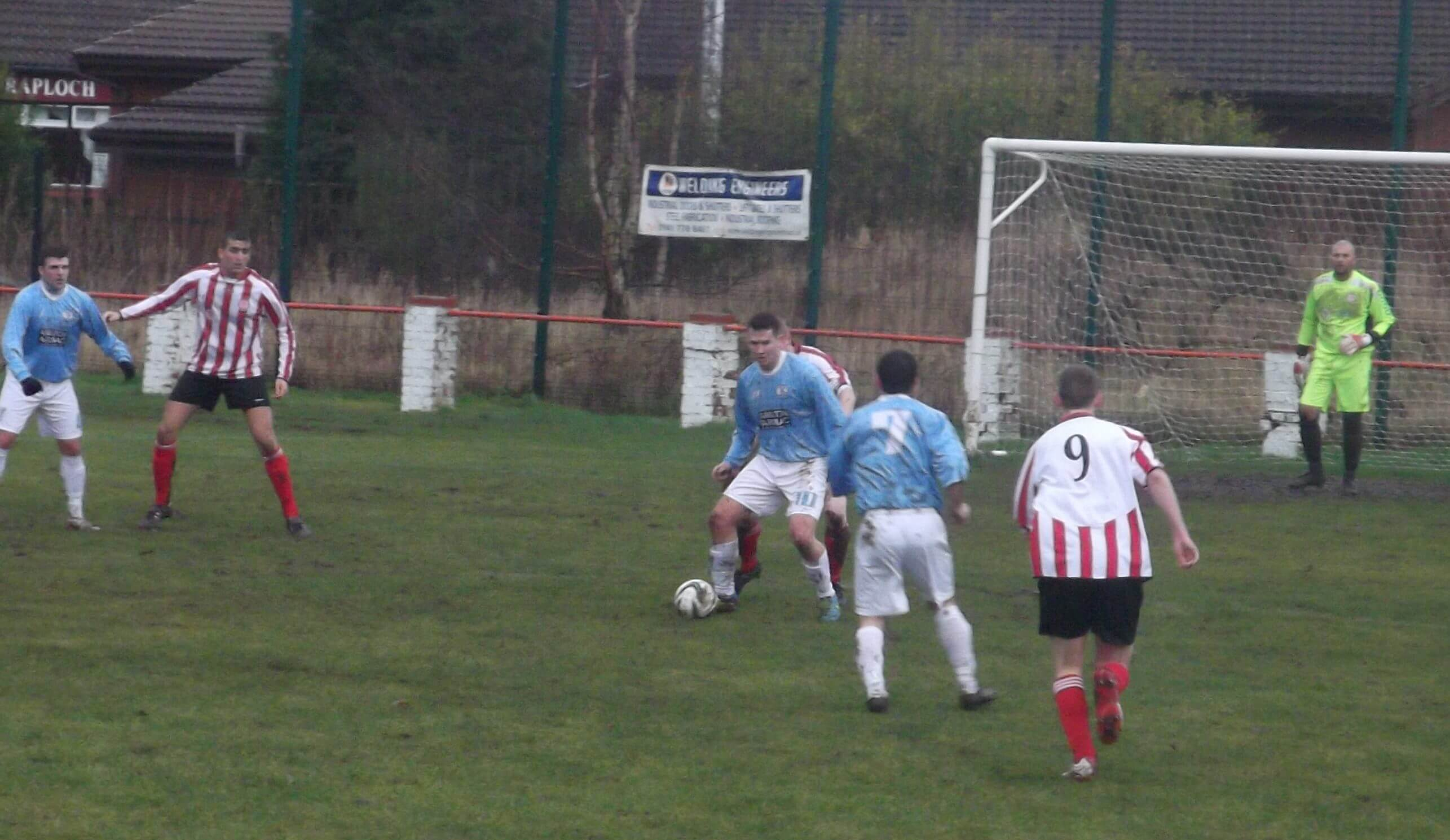 Hurlford on the attack in the first half