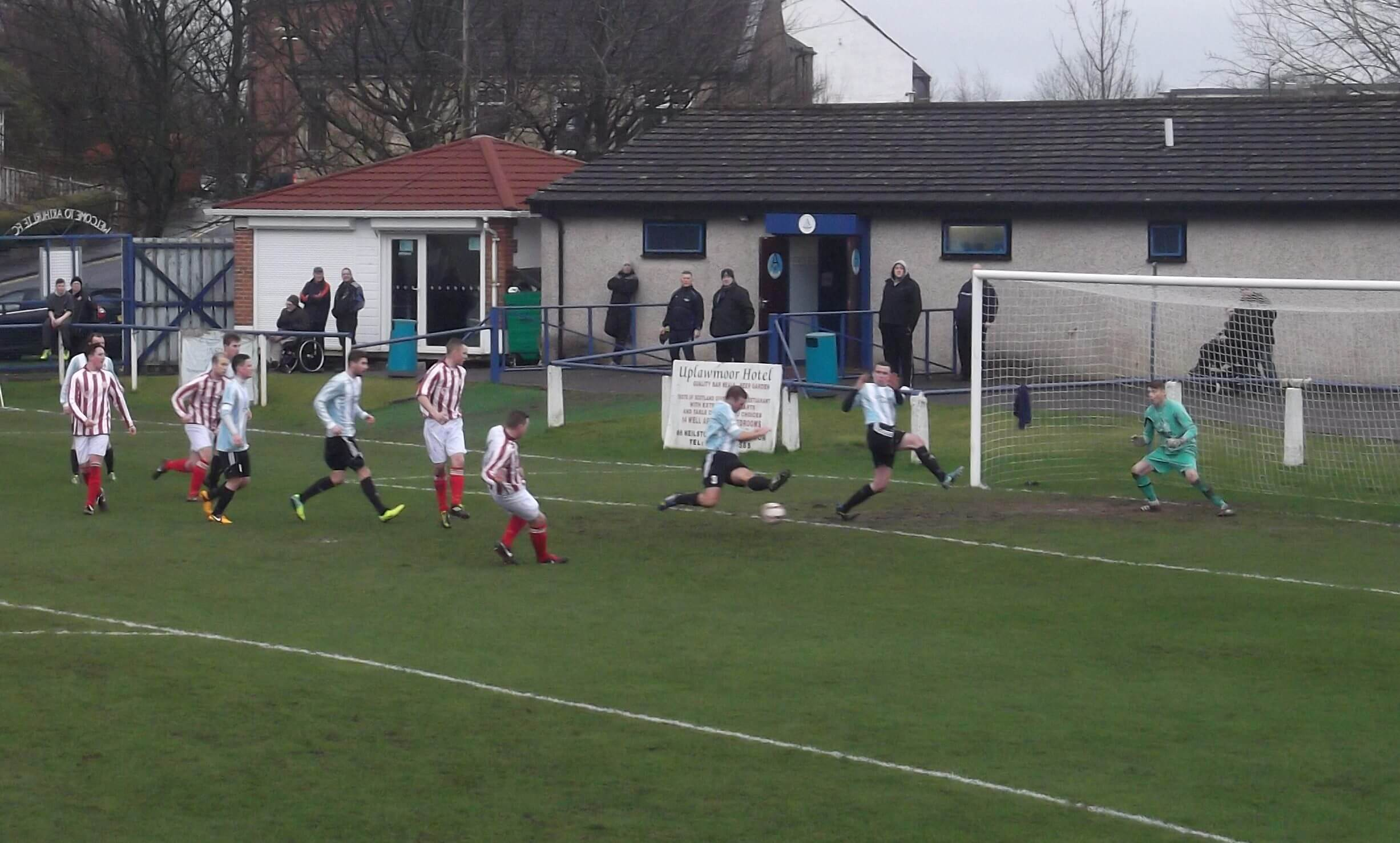 Mark Canning early first half shot at Arthurlie