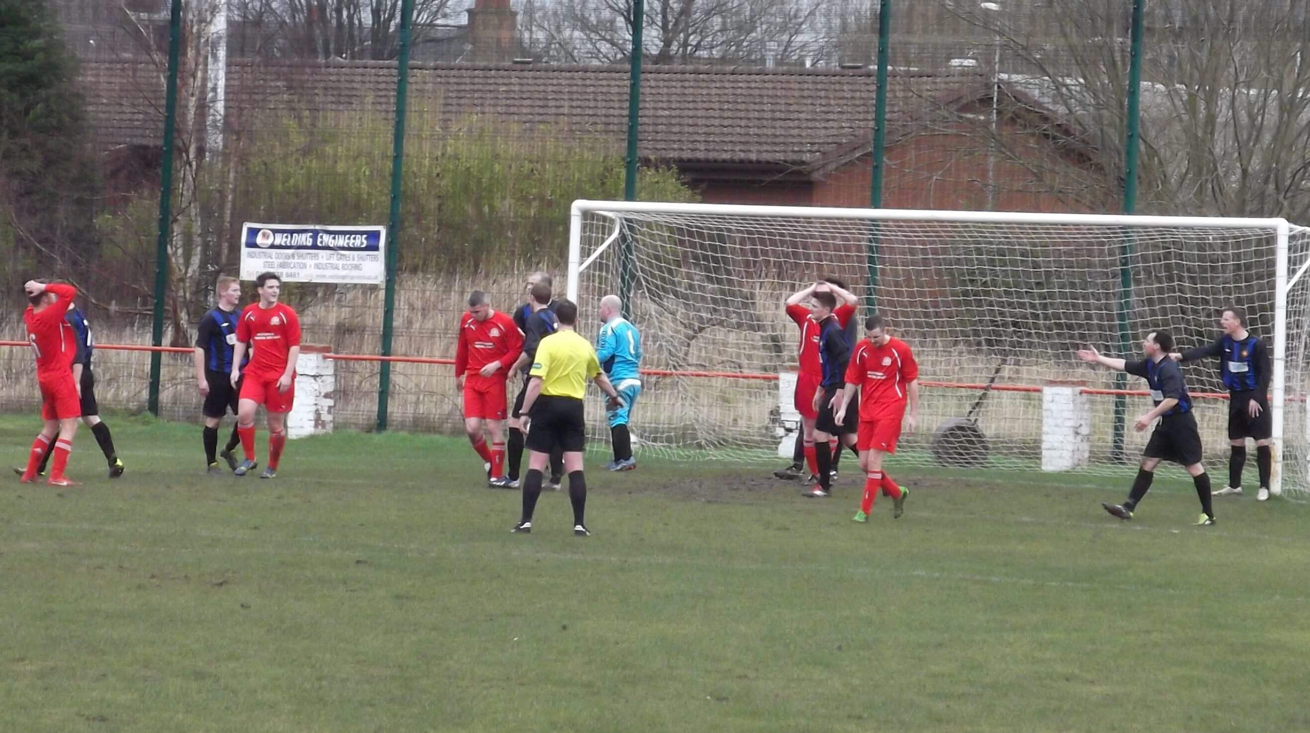 Perthshire can't believe it as a header goes past