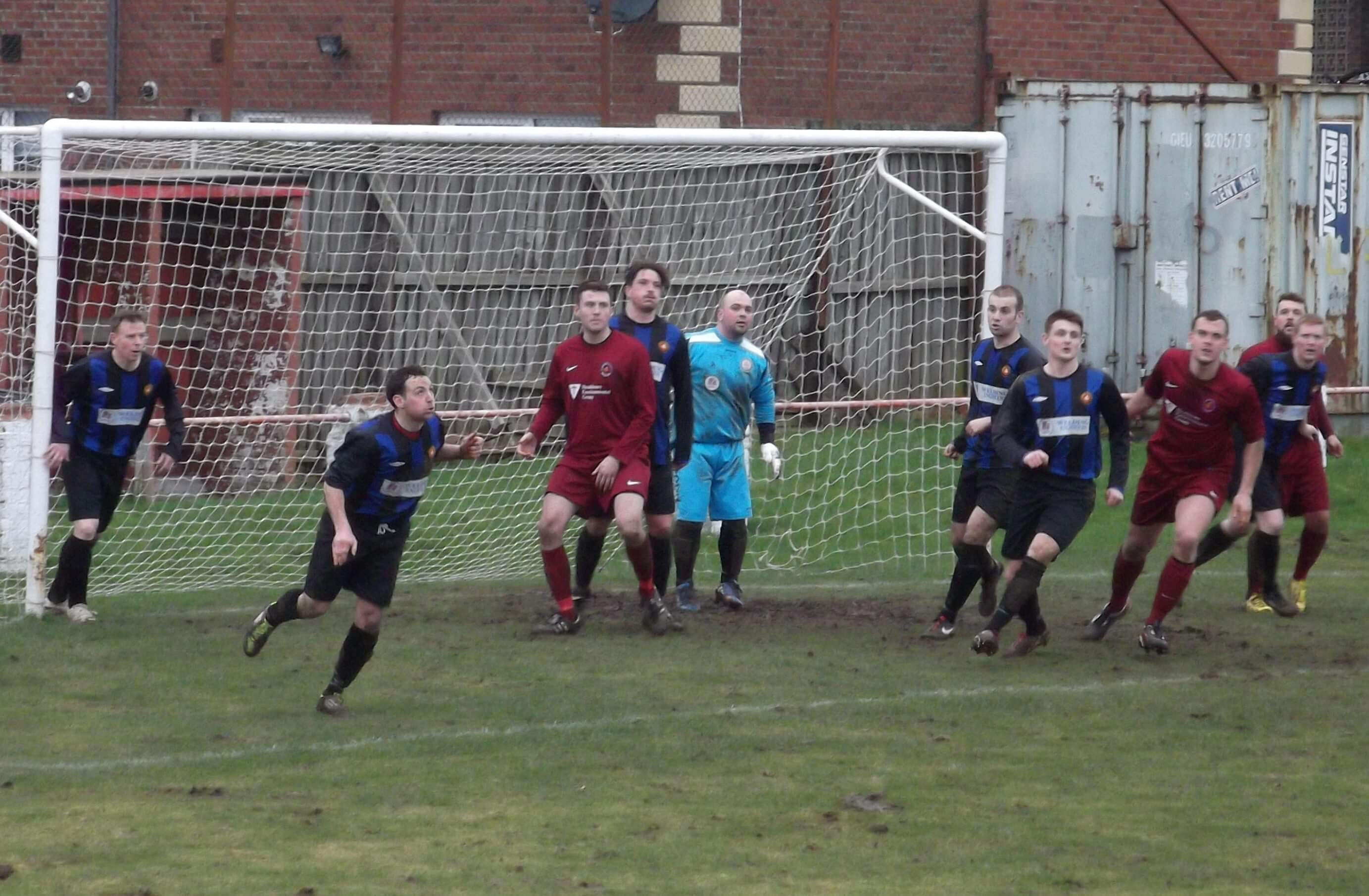 Jags defend a corner in the second half