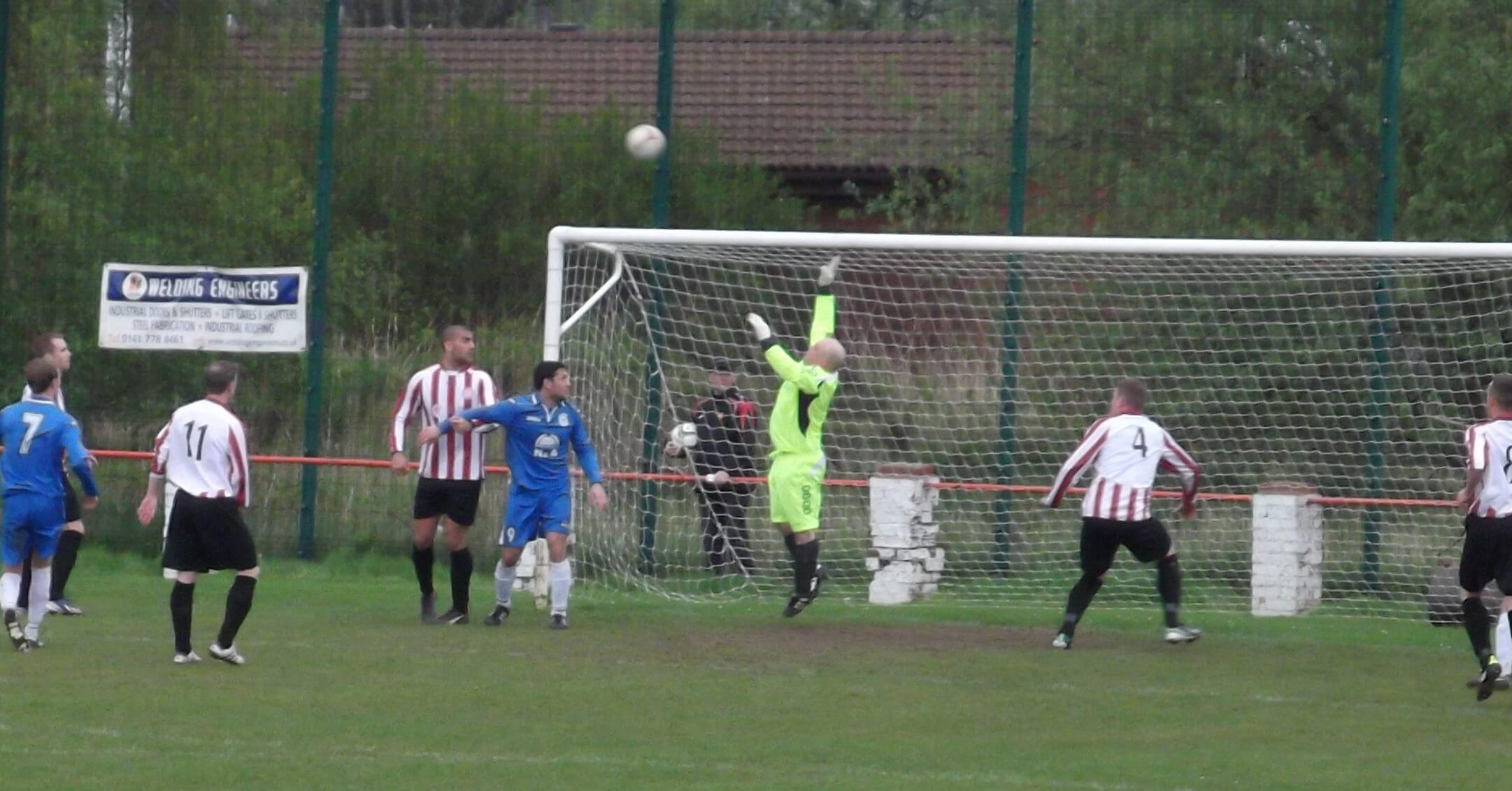 Benburb Free kick beats Moss