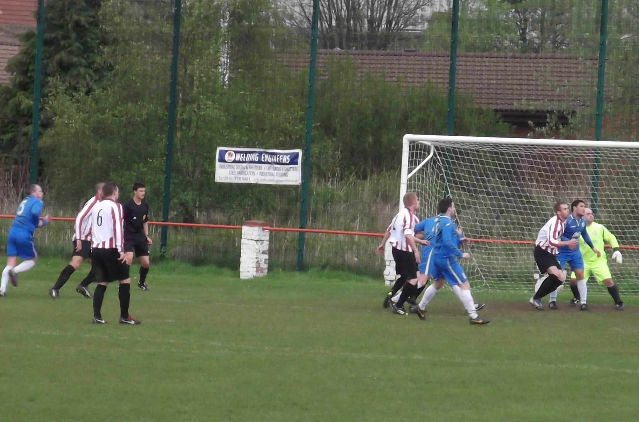 Lovering nicks in at the back post to equalise