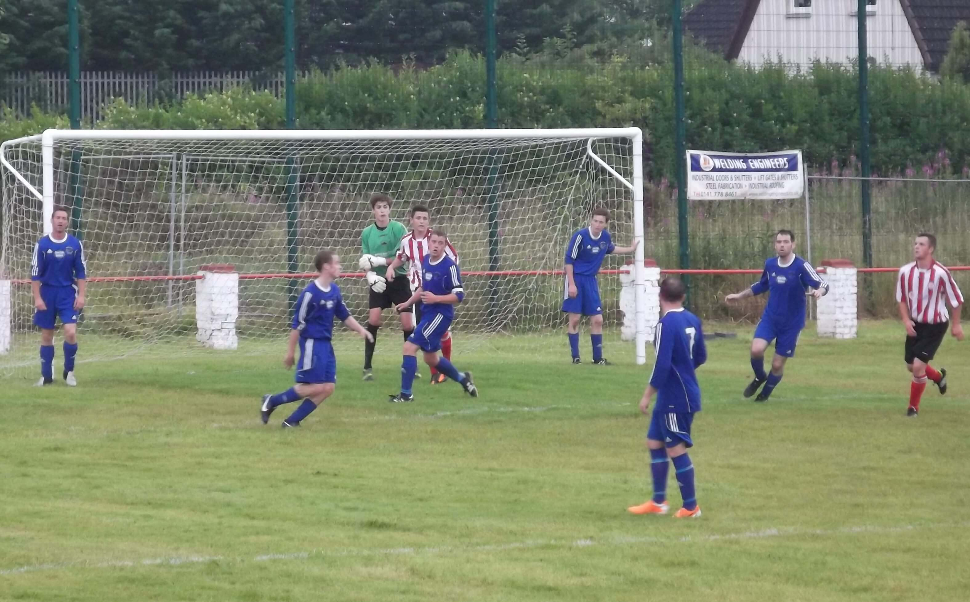 Abbey Vale defend in the second half