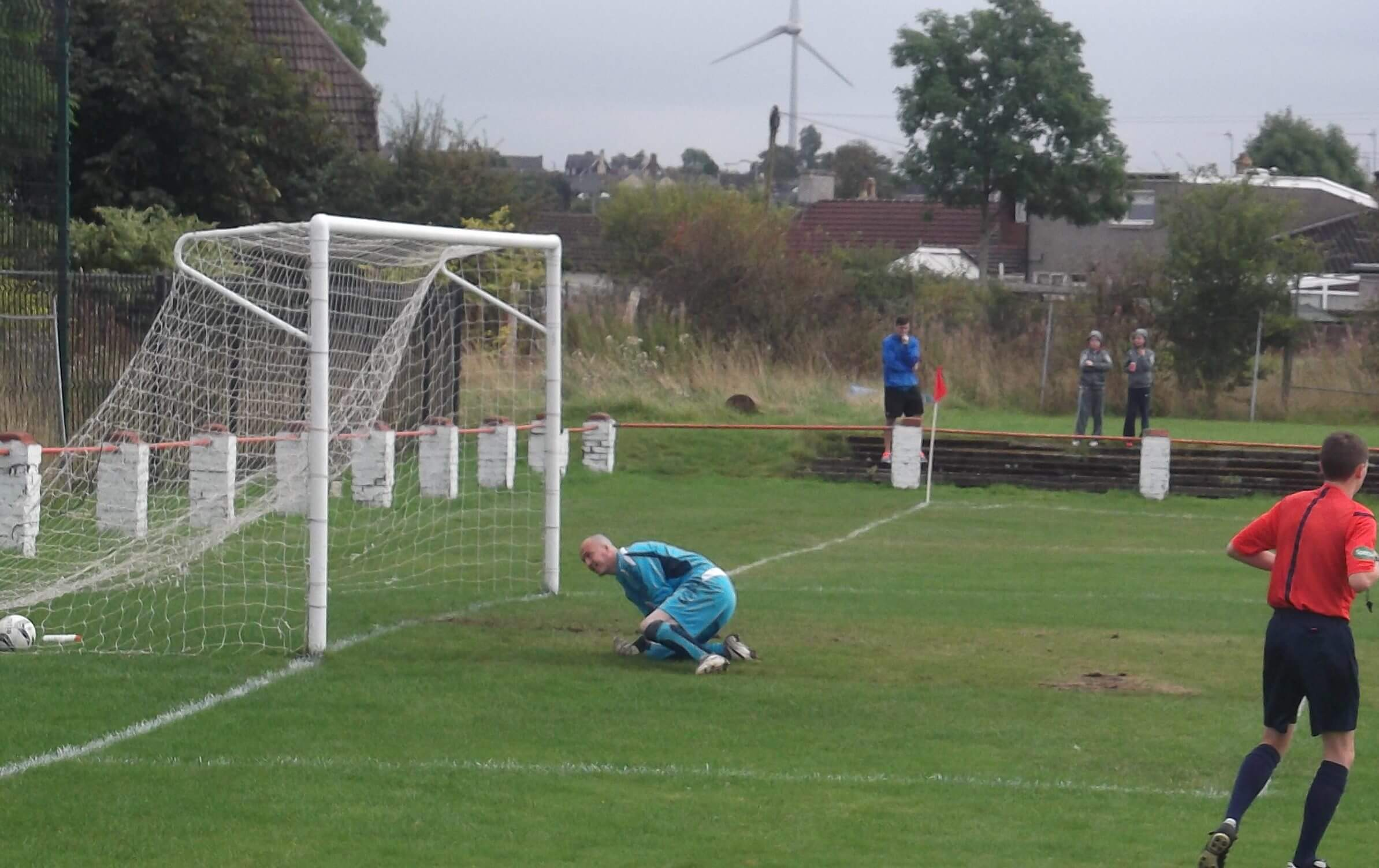 Alan Colquhoun beaten by the third minute penalty