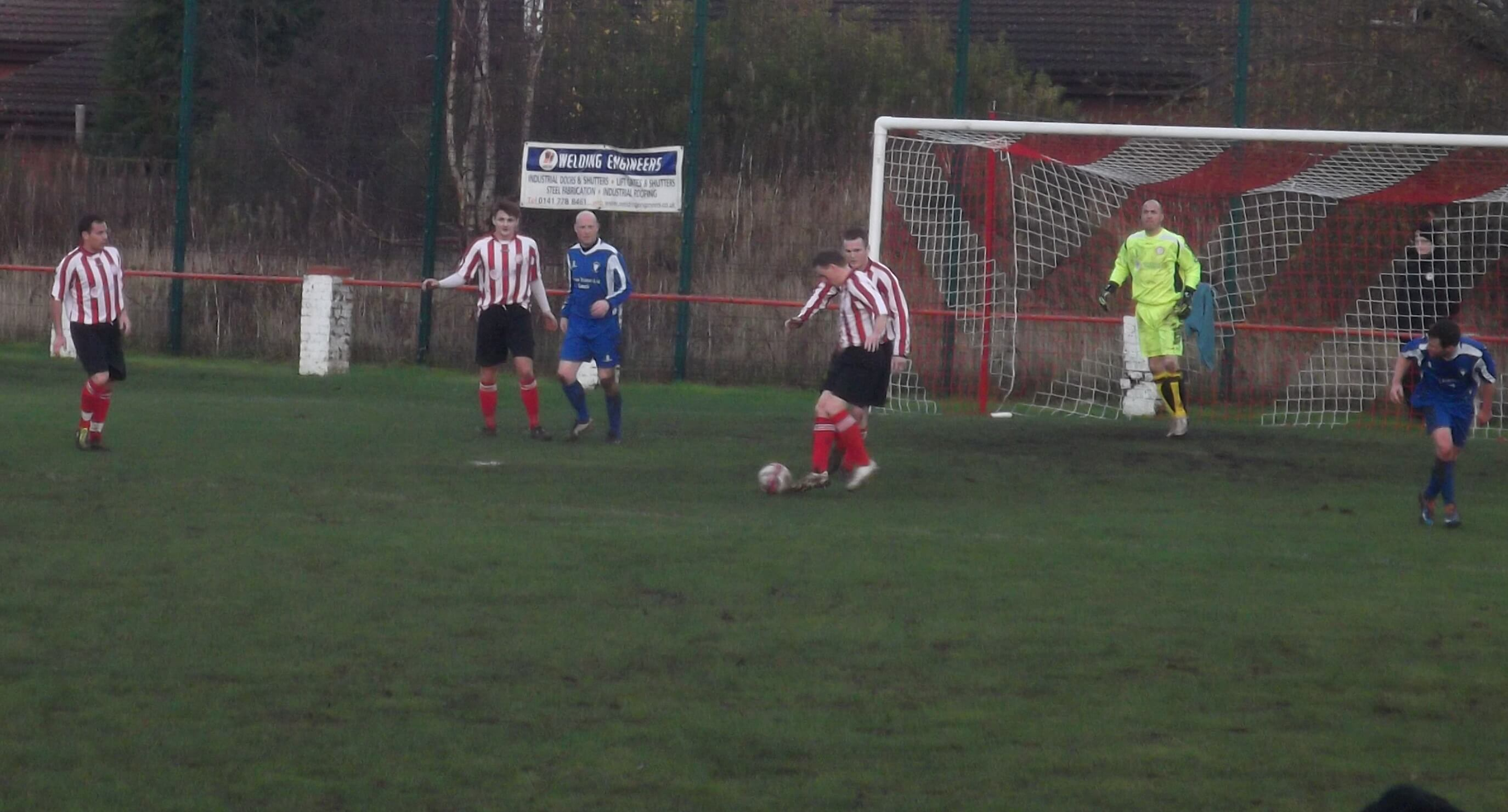 McKeever and Nicholl bring the ball clear
