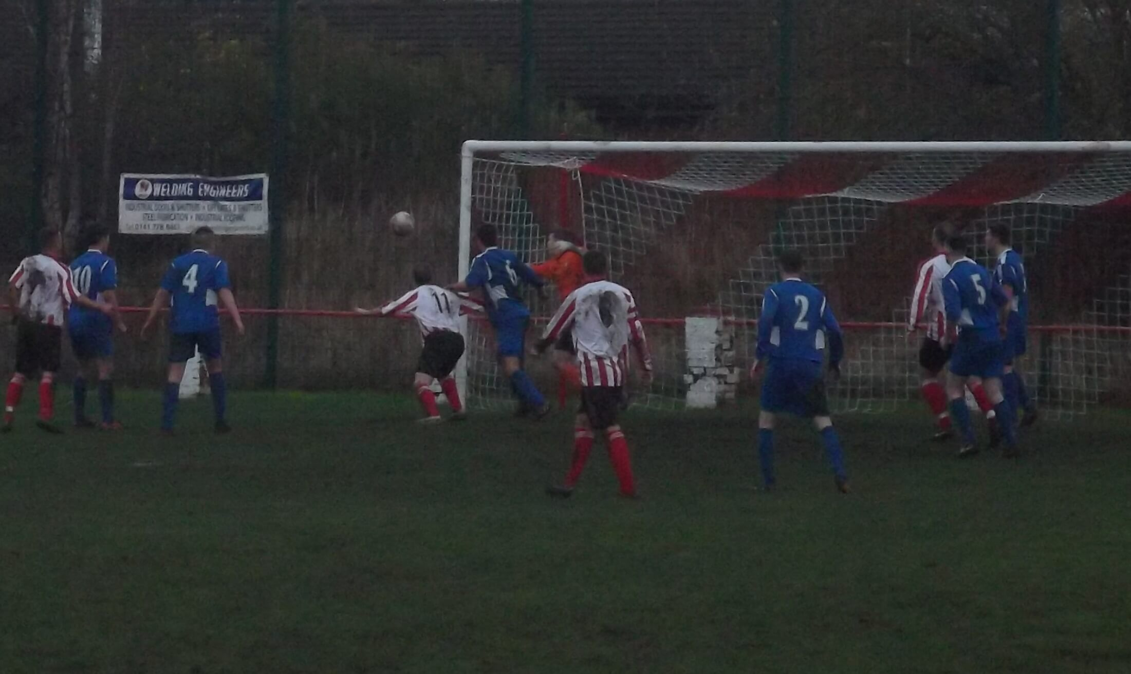 Mark McKeever hits the post