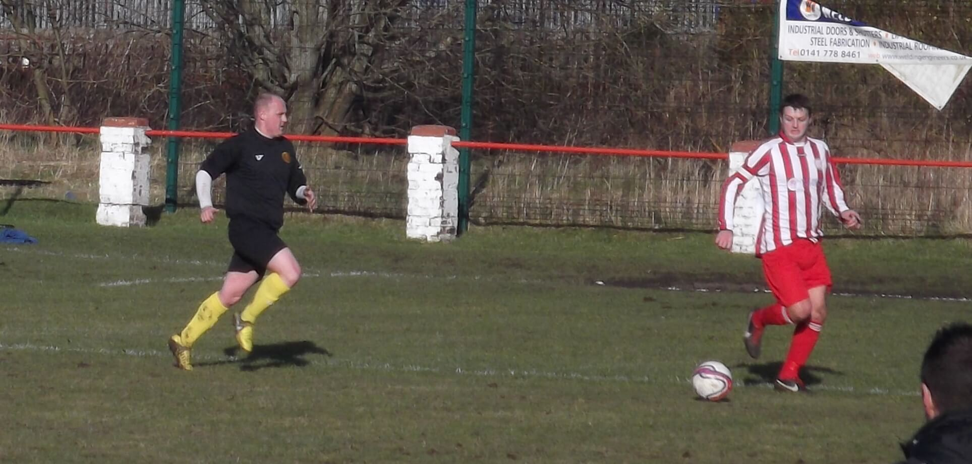 Thistle and Bellshill goalscorers in action