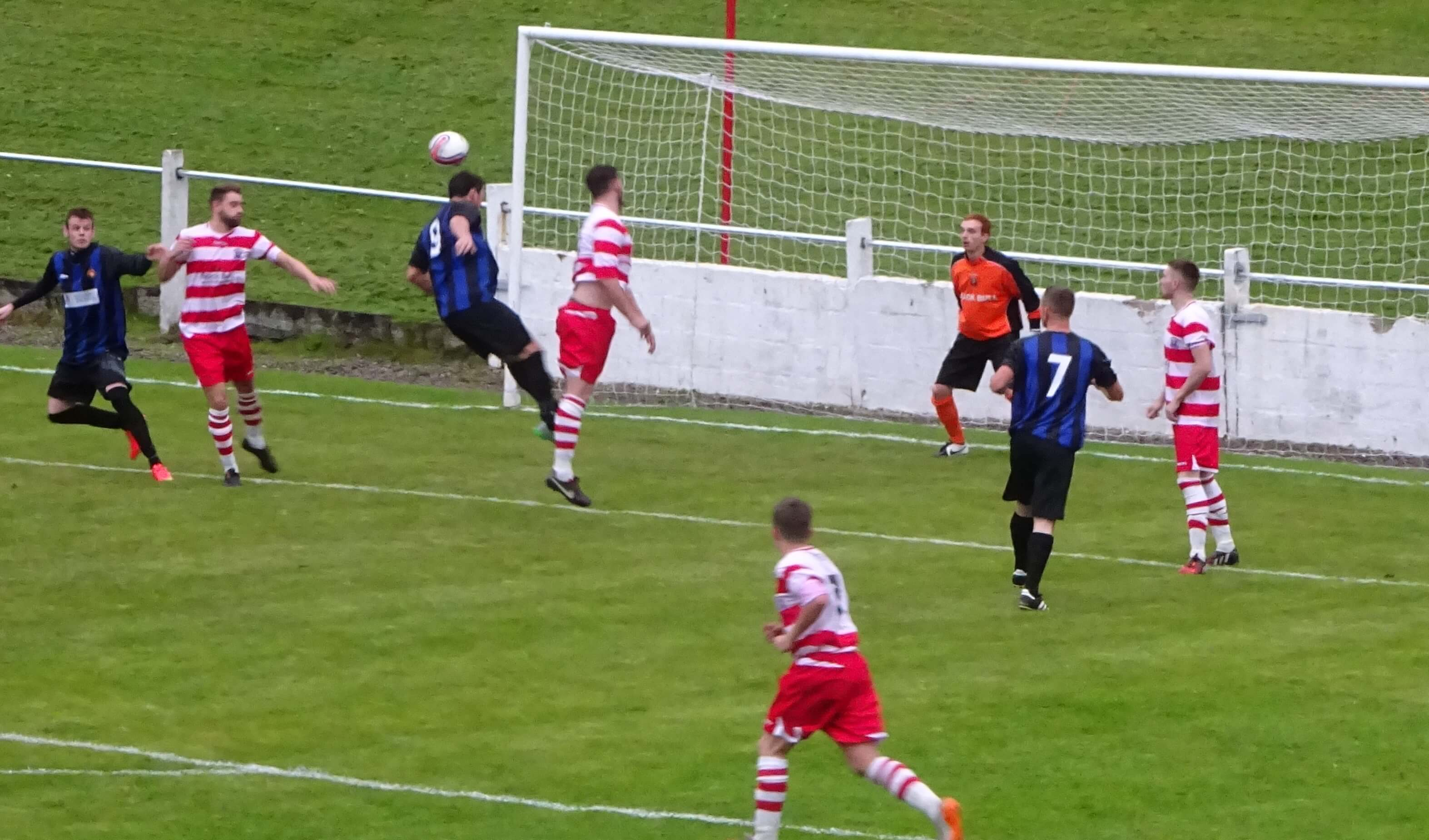 McStay header goes past the post